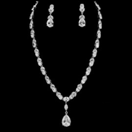 TEAR DROP NECKLACE SET W/EARRINGS